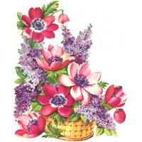 Quality flower painting wall painting gift for sale