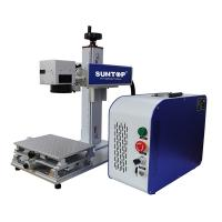 Quality Cnc Drilling Portable Laser Engraving Machine On Brass Steel Sheet 50 Watt for sale