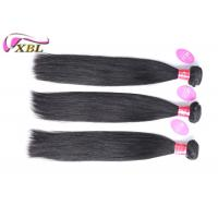 Quality One Donor 100% Peruvian Virgin Hair Straight , Machine Made Human Hair Extension Smooth for sale