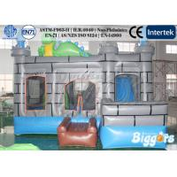 Quality Dinosaur 0.55mm PVC Commercial Inflatable Castle / Combo For Kids for sale