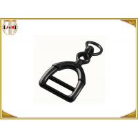Quality Zinc Alloy Metal Shoe Buckles Clips With D Ring Custom Black Color for sale