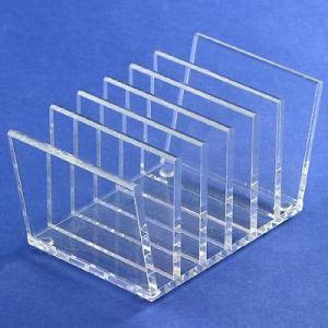 Quality Acrylic table CD display rack/ clear acrylic CD holder for sale