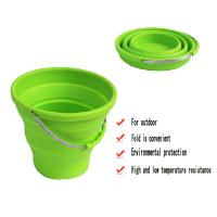 China Custom durable silicone folding bucket for picnic household product on sale