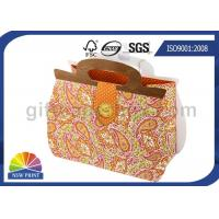Quality Printing Handbag Shaped Wrapping Paper Gift Bag with Die-cut Handle , Eco-friendly for sale