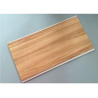 Quality Wood Laminated Pvc Ceiling Planks , Pvc Interior Wall Panels Construction Materials for sale