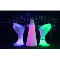 Quality PE Plastic Full Color Led Glow Furniture With Metal Treadle / LED Bar Stool for sale