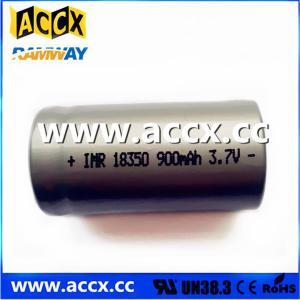 Quality ICR18350 900mAh 3.7V for sale