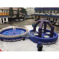 Quality Purple Or Custom Made Inflatable Meltdown Rotating Game , Inflatable Last Man Standing Game for sale