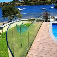 Buy cheap stainless steel spigots Tempered glass balustrades fro swimming pool from wholesalers