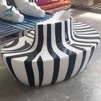 Quality Hot sale fiberglass chair statue for outdoor decoration for sale