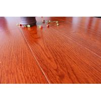 Quality Sound Absorption Wooden Floor Tiles Bamboo Fiber Wood Grain Reddish Brown for sale