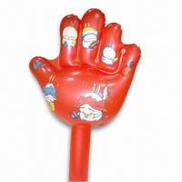 Quality PVC Inflatable Hand with Customized Designs, Various Colors are Available for sale