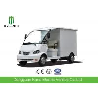 Quality 4kW DC Motor Driven Battery Powered Carry Van With Enclosed Cargo Box for sale