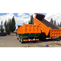 China Beiben NG80 6x4 380hp Dump Heavy Tipper Trucks Orange Color Front Lift for sale