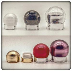 Quality 15g 30g 50g  Plastic Light Bulb shape Bottles  Jars with Metal Aluminum Lid Covers for sale