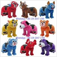 Quality Baby and Parent Like Outdoor Indoor Playground Coin Operated Battery Stuffed Lion Animal Walking Rides for sale
