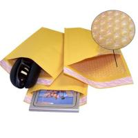 China Kraft Yellow Bubble Wrap Envelope / Kraft Paper Mailers UV Proof 175x260mm #D on sale