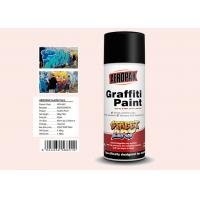 Quality Plastic White Color Graffiti Spray Paint Fastest Dry Time For Indoor / Outdoor Projects for sale