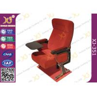 Quality Self Weight Close Seat Pad Moive Theater Seating Chairs In Aluminum Alloy Legs for sale