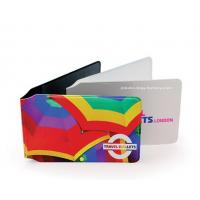 Buy Customized Full Color Plastic Card Holder Artificial Leather Card Wallet at wholesale prices