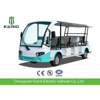Quality 4 Wheel Electric Sightseeing Car , 11 Seats Electric Passenger Vehicle With Sun Curtain for sale