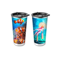 Quality Food Grade 3D Lenticular Printing Service Plastic Kids Drinking Cup for sale