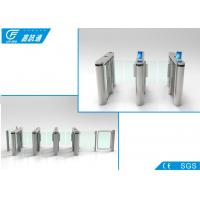 Quality Single Directional Turnstile Gate Systems , 180 Degree Arm Rotation Waist Height Turnstile for sale