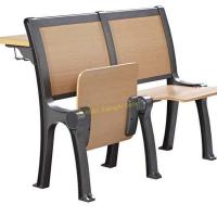 China Classic Iron Wooden Stadium Tip Up Foldable Chair For University Lecture Hall on sale