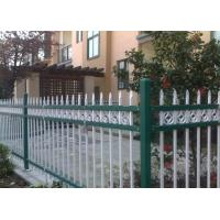 Quality Euro Style Tubular Zinc Steel Fence Powder Coated For School , Convenient Install for sale