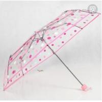 Quality Folding Compact Pink Bubble Umbrella Manual Open Print POE Canopy 25cm Fold Lenght for sale