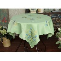 Quality Pretty Square Decorative Table Cloths Multiple Colors Custom Embroidered Tablecloths for sale