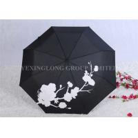 Quality Creative Colour Changing Umbrella , Plastic Handle Fold Away Umbrella for sale
