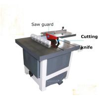 Quality MJ243C silent vertical sliding circular saw for wood with rail guide for sale