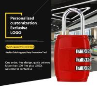 China Customized Mechanical Password Padlock For Zipper / Storage Boxes / Gym Lockers on sale