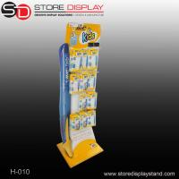 China Customized Floor display stand with hooks for hanging in corrugated cardboard material on sale
