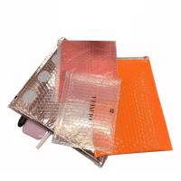 Quality Customized size and printing pink custom plastic waterproof packaging ziplock bubble bags for sale