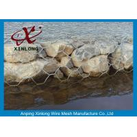 Quality Durable Gabion Wire Mesh , Low Carbon Steel Wire Gabion Mesh Cages for sale