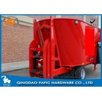 Quality Vertical Auger with Serrated Knives of Livestock Farm Used Feed Processing Wagon have Lifting Scoop for sale