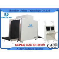 Customized Airport Luggage Scanner / Baggage X Ray Scanner Large Tunnel Size 150x150mm