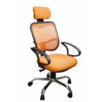 Quality Orange Fabric Home Office Computer Chair Ergonomic Back Comfortable For Whole Day Work for sale
