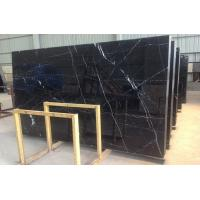 Quality Honed Polished Black Marquina Marble Stone Slab For Bathroom Vanity Tops for sale