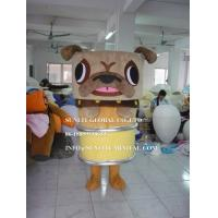 Quality brown pug dog mascot costume, advertising dog mascot costume for sale