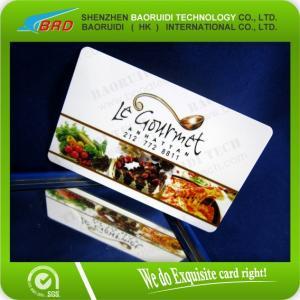China CMYK print plastic gift/vip/membership card on sale