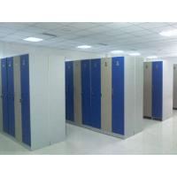Quality Single Tier Lockers PVC Material , Gray Cabinet Commercial Gym Lockers for sale
