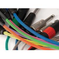 Quality Fire Resistant PET Expandable Braided Sleeving Halogen Free For Cable Harness for sale