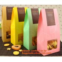 Quality Customize Translucent Window, Brown Greaseproof Kraft Paper Bag, Special Opp Window Bag, window bags, paper window bags, for sale