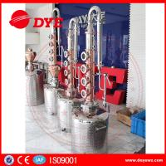 Quality 150L home alcohol distiller with 6 red copper stil column plates for sale