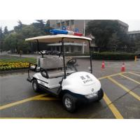 Quality 4 Seater Golf Buggy With Integrated Seat , Street Car Golf Cart For Police Patrol for sale
