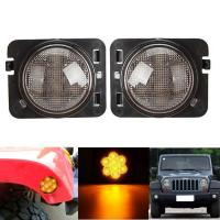 Quality Amber 2007-2017 Jeep Wrangler Smoked Turn SignalsClear Lens IP 68 Waterproof for sale