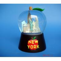 Quality snow dome,snowball,souvenir,Apple shape water globe with building figurine for sale